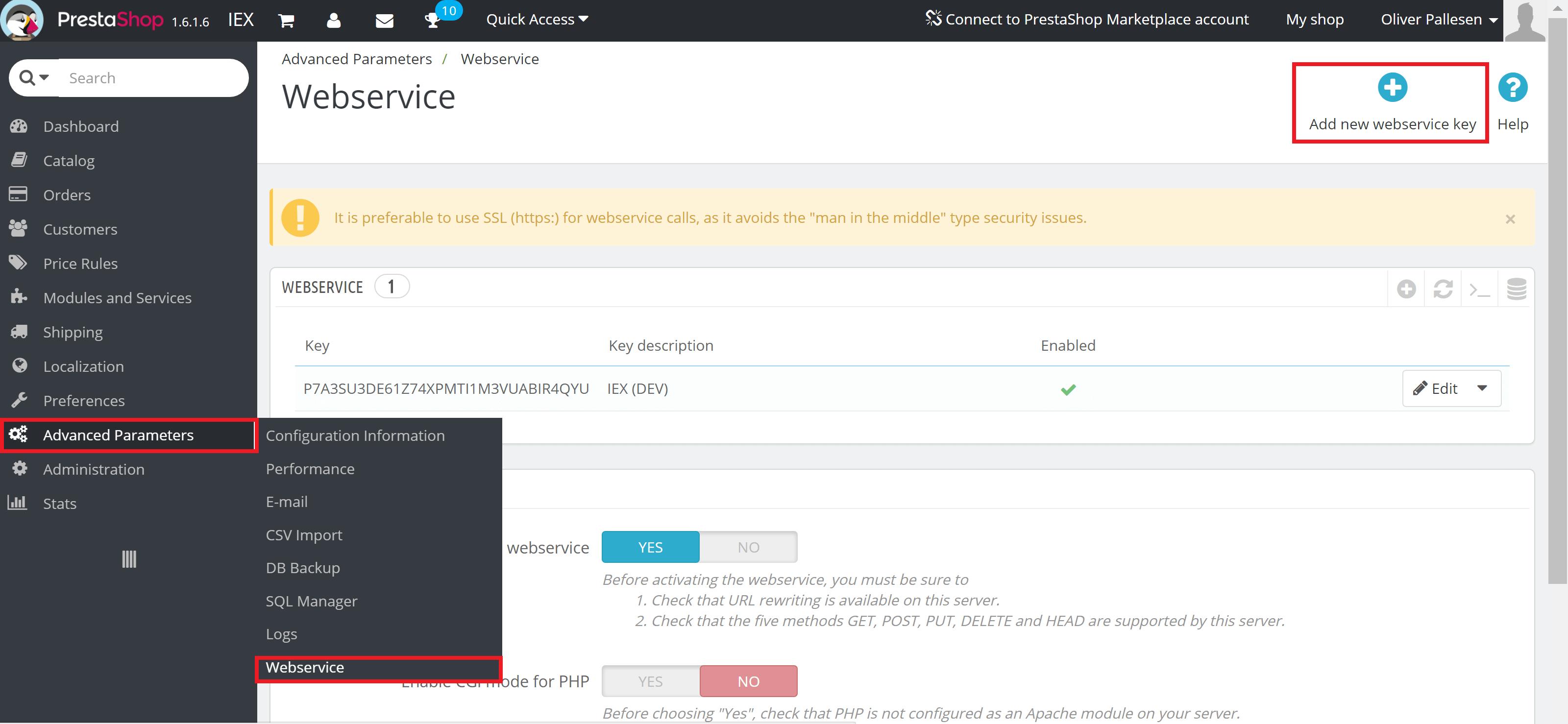 Installer modulet