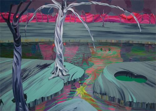 Misterious pond -light-