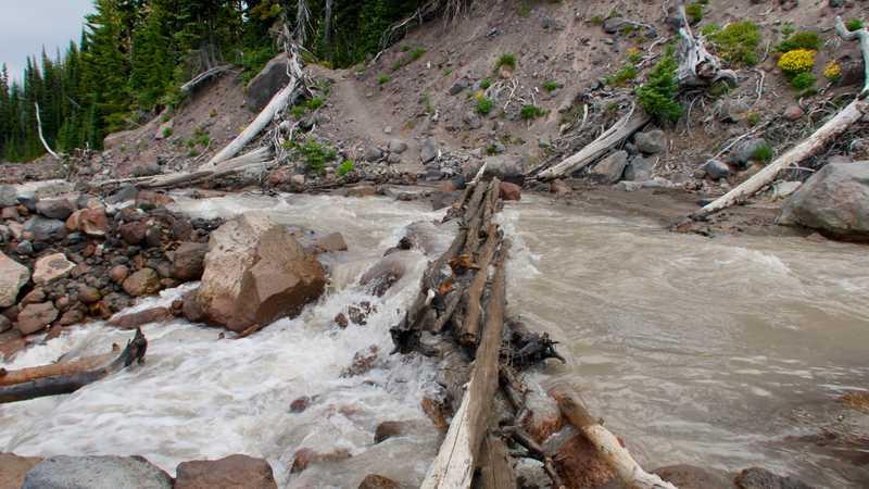 Murky water in Adams Creek