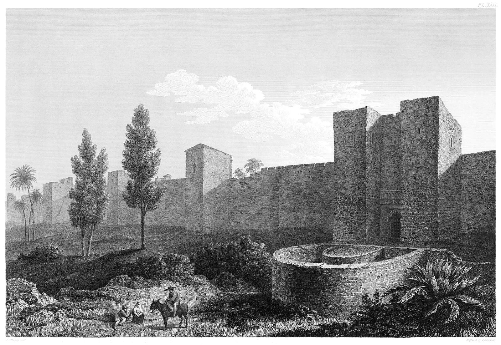 Fortifications outside the city walls of the Alhambra