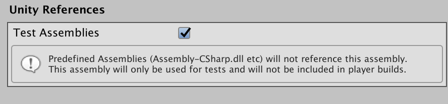 Unity Test Assemblies Checkbox