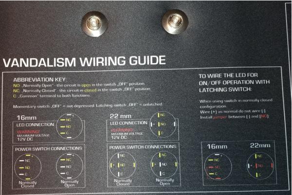 Vandalism Wiring Guide