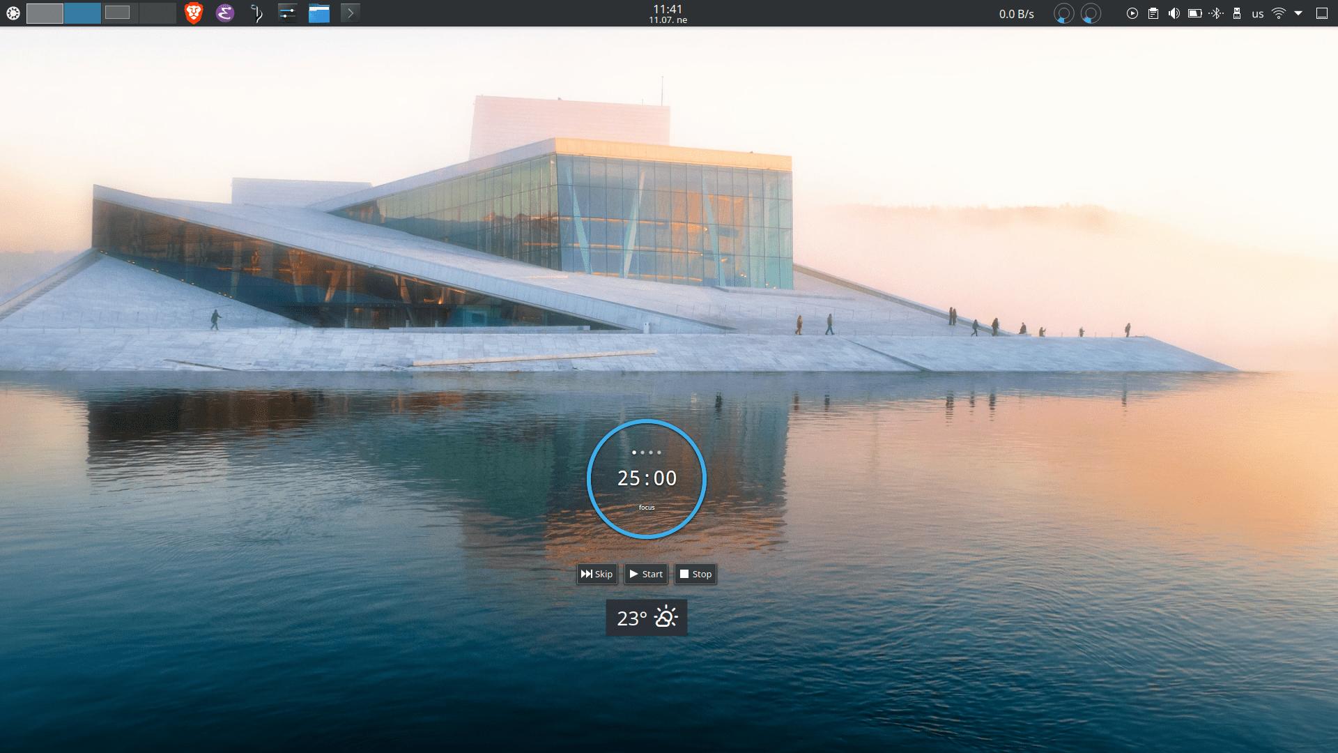 My desktop with Plasma
