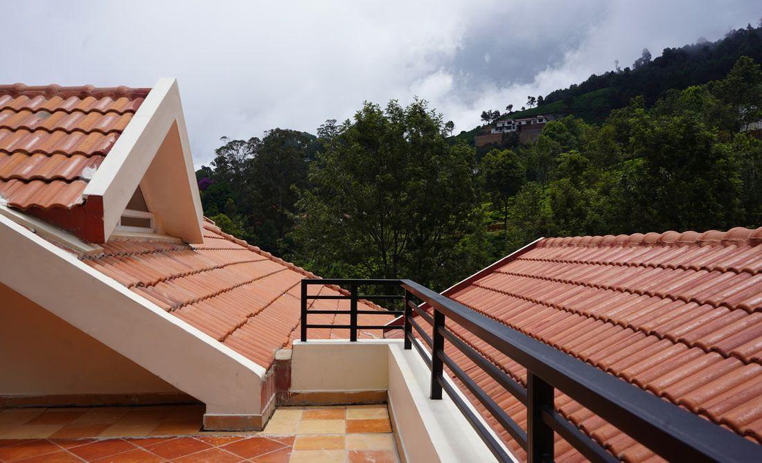View from the attic terrace into Attadi