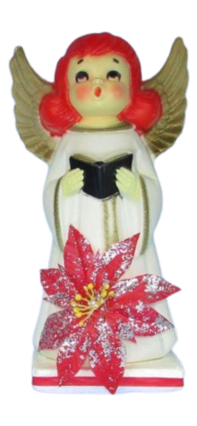Angel With Red Poinsettia photo