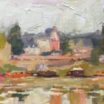 Boats on the Loire 8 x 16