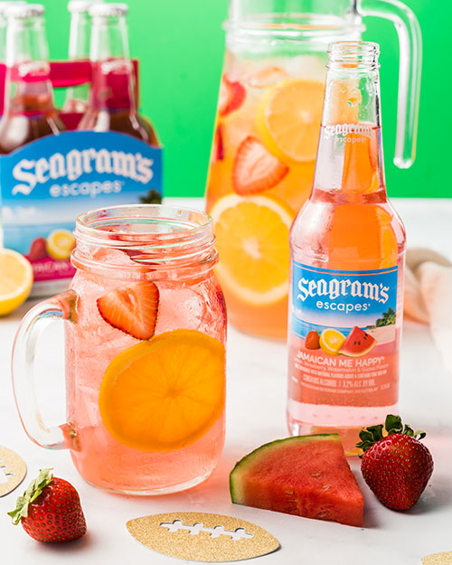 Jamaican Me Happy Tailgating Pink Punch Recipe Image
