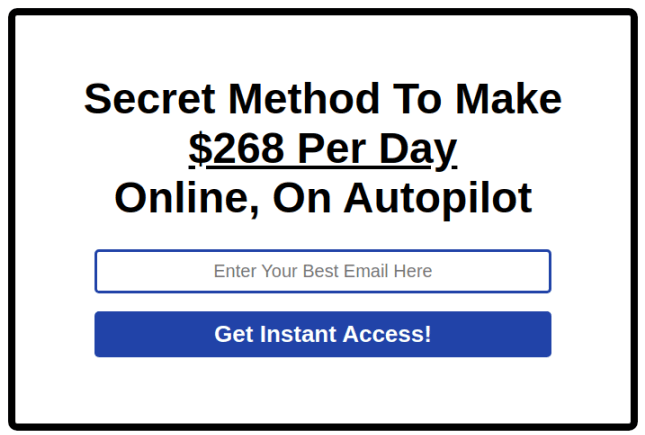 Essential Opt-In Page - Headline, Data Entry Element, CTA