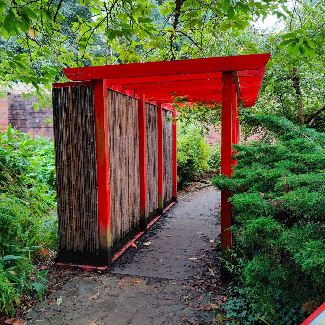 Horsforth Hall Park Japanese Garden shelter
