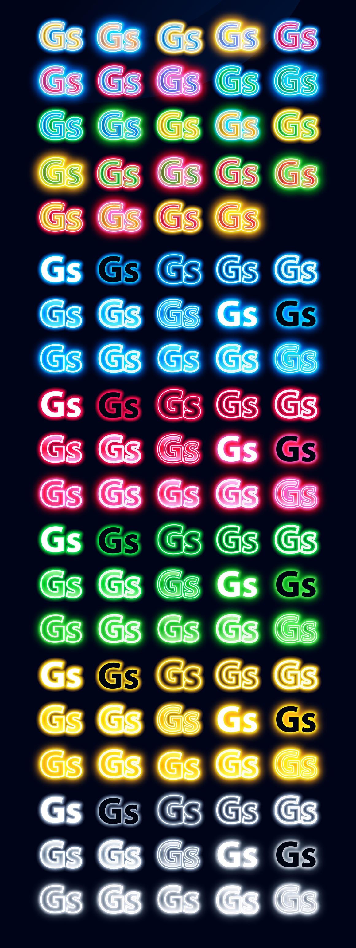 Neon Illustrator styles images/neon_2_AI_graphic_styles.jpg