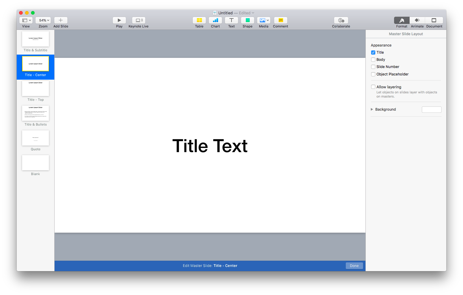 simpler themes in keynote