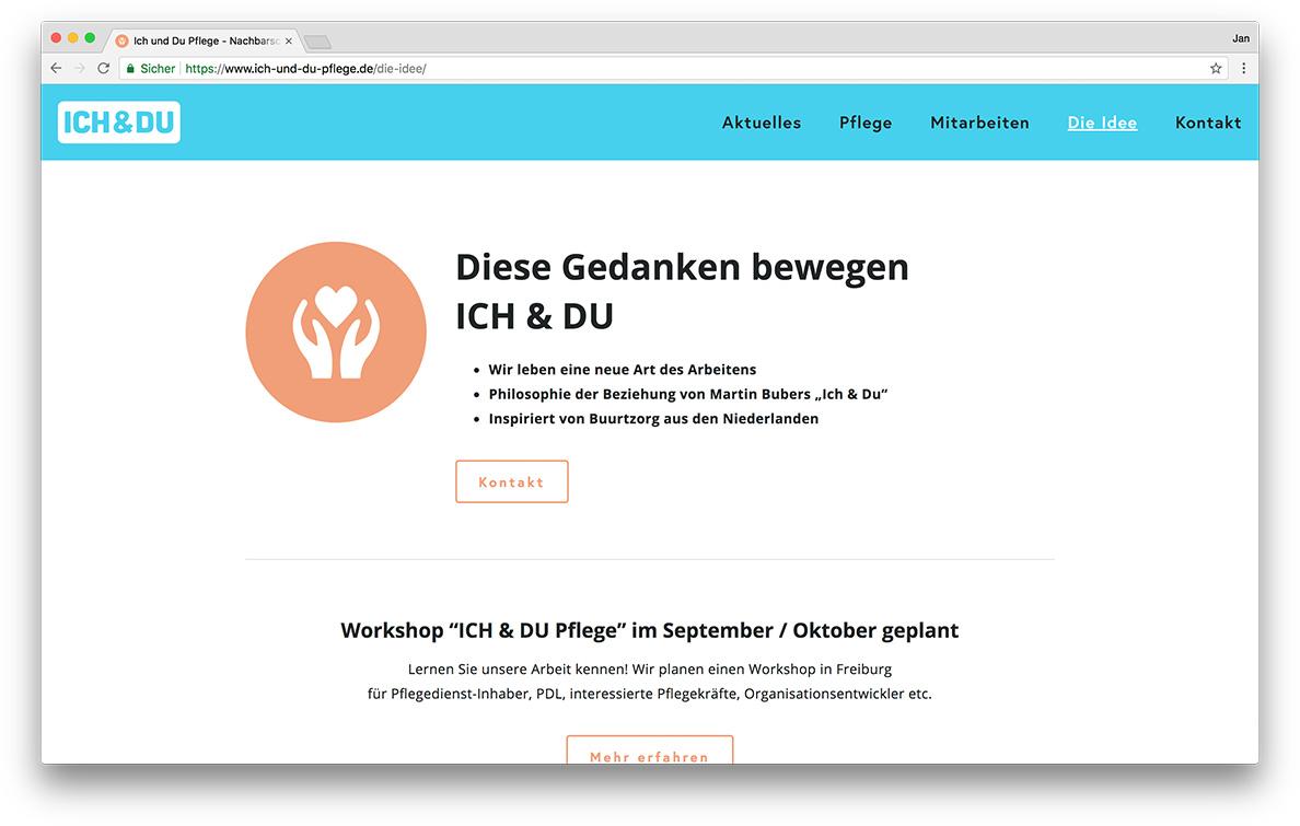 KreativBomber Onlineagentur Freiburg - ICH & DU Pflege Freiburg Idee