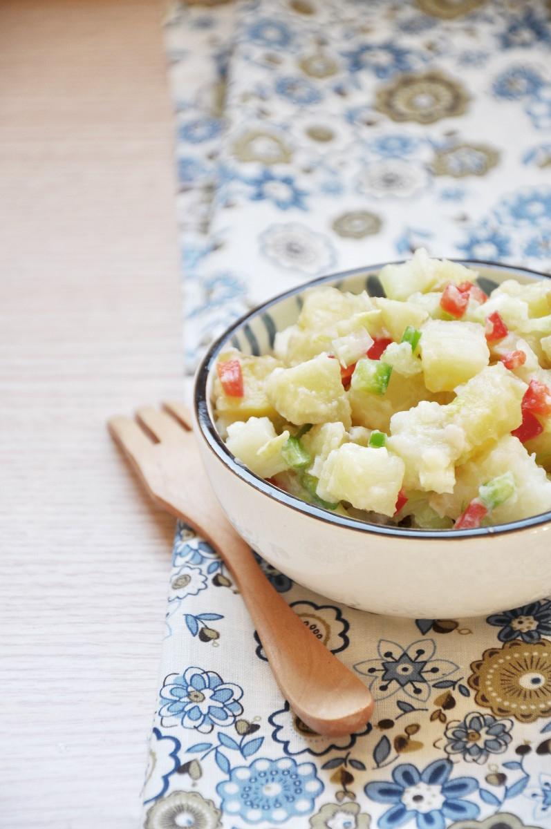 Classic Potato Salad with Homemade Vegan Mayonnaise
