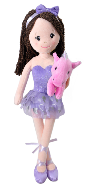 "The Petting Zoo: 17"" Ballerina with Unicorn Assortment"