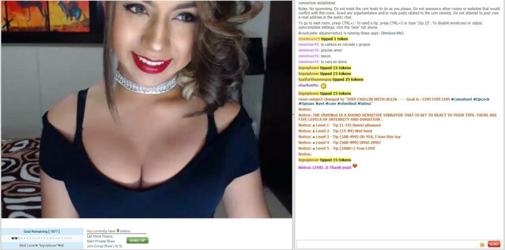 Chaturbate trans screenshot
