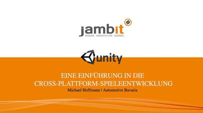 Unity – Eine Einführung in die Cross-Plattform-Spiele-Entwicklung Image