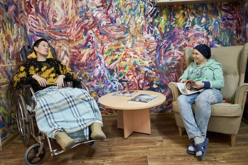 Ольга и Власта. Центр паллиативной помощи. Фото: Алексей Абанин