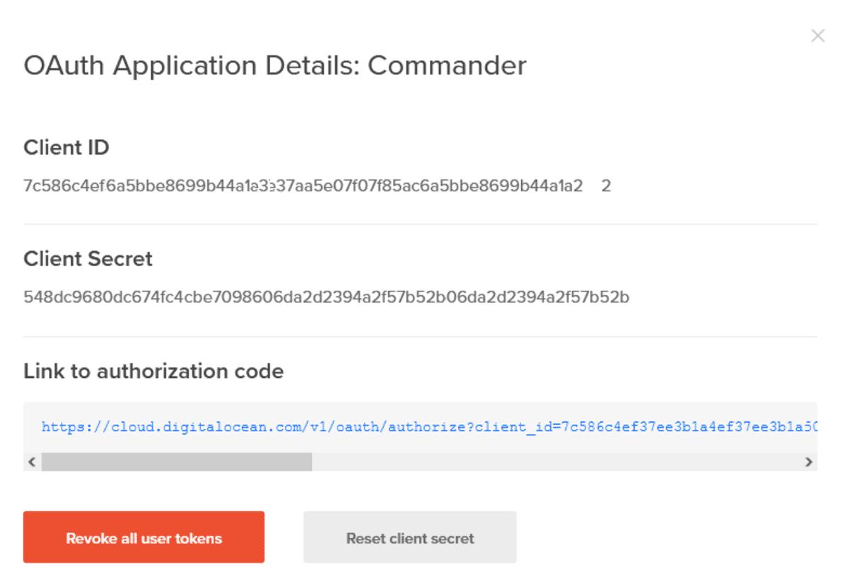 Complete Client Secret and authorization code link