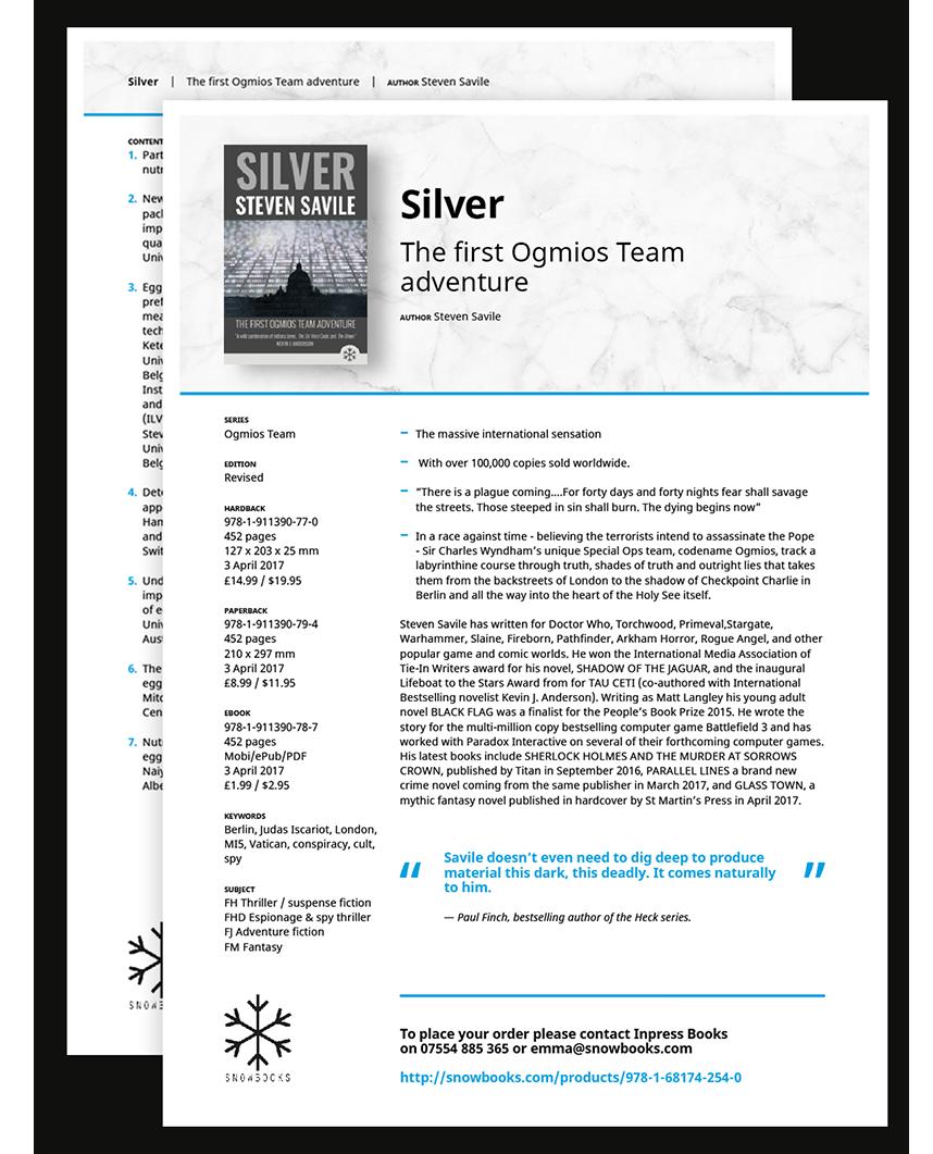 advance info sheets screenshot
