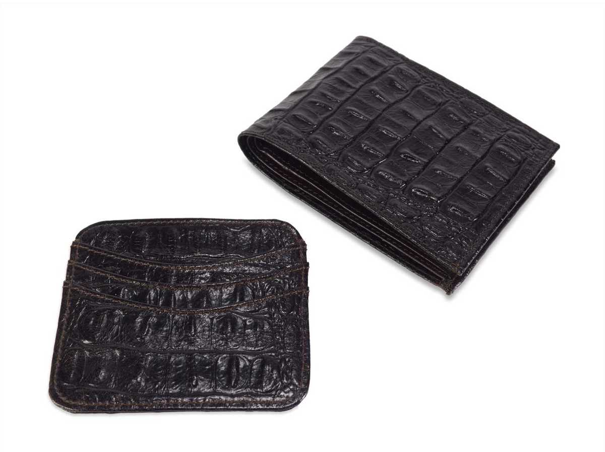 2-piece Gift Set for men - croc chocolate
