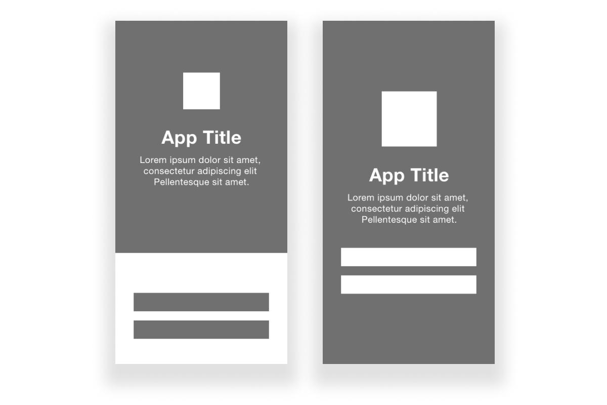 High-fidelity app screen wireframes