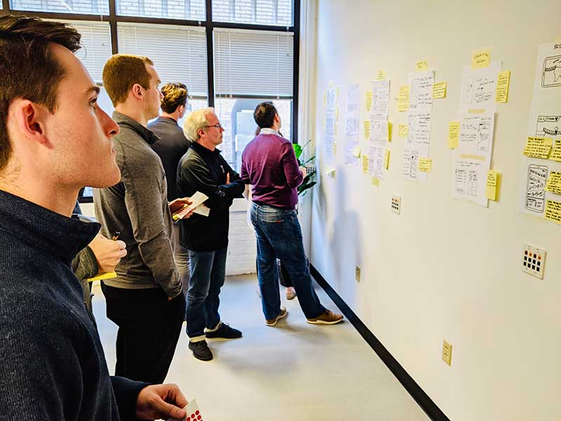People voting during a Design Sprint