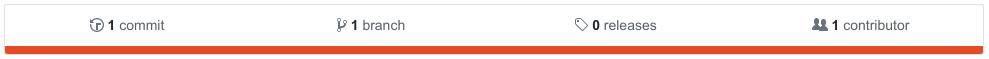 GitHub repo info bar