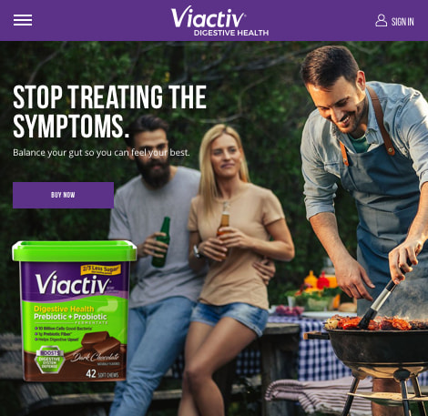 Example industry we've served: Viactiv