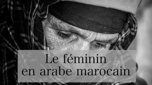 Le féminin en arabe marocain