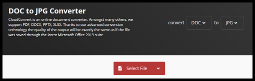 Click Select File and choose DOC files