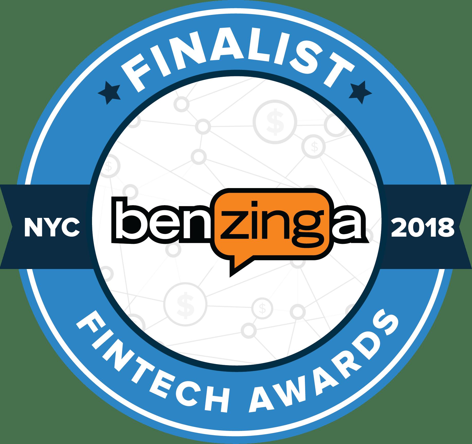 Benzinga Fintech 2018 Finalist