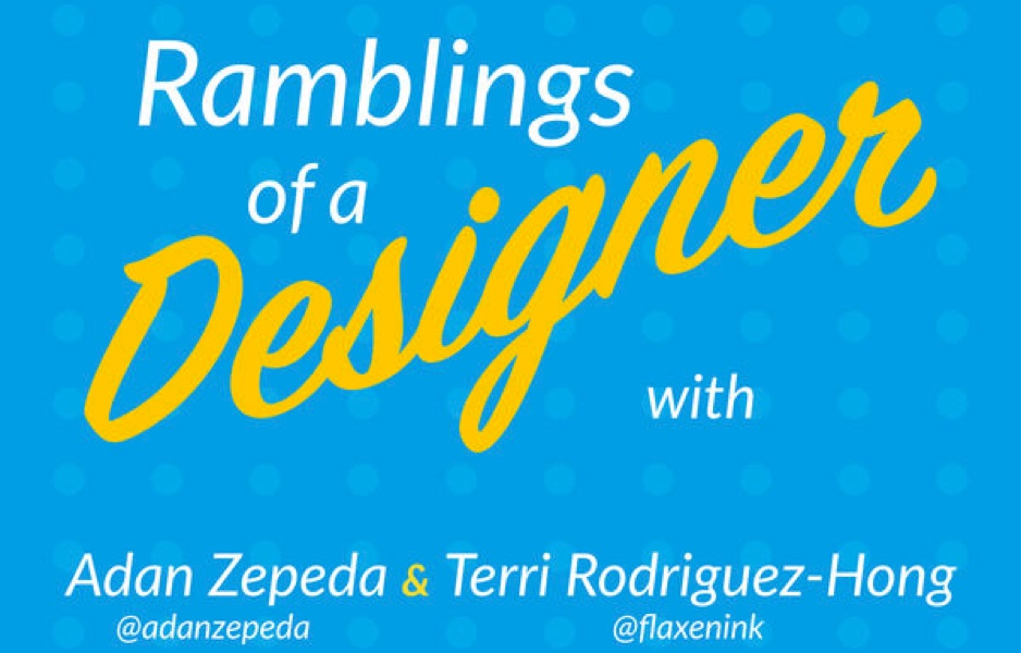 Remblings of a Designer podcast logo and hosts. Image credit: Ramblings of a Designer