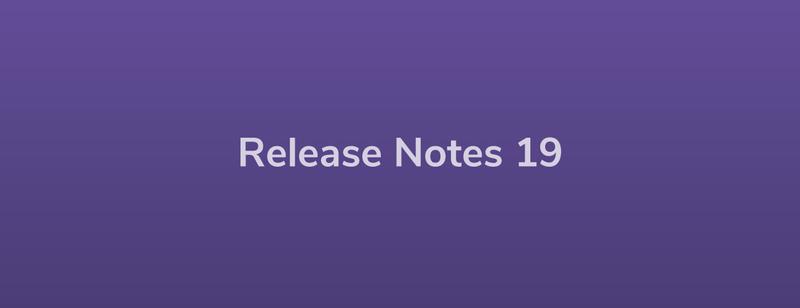 Release Notes: DevRel19