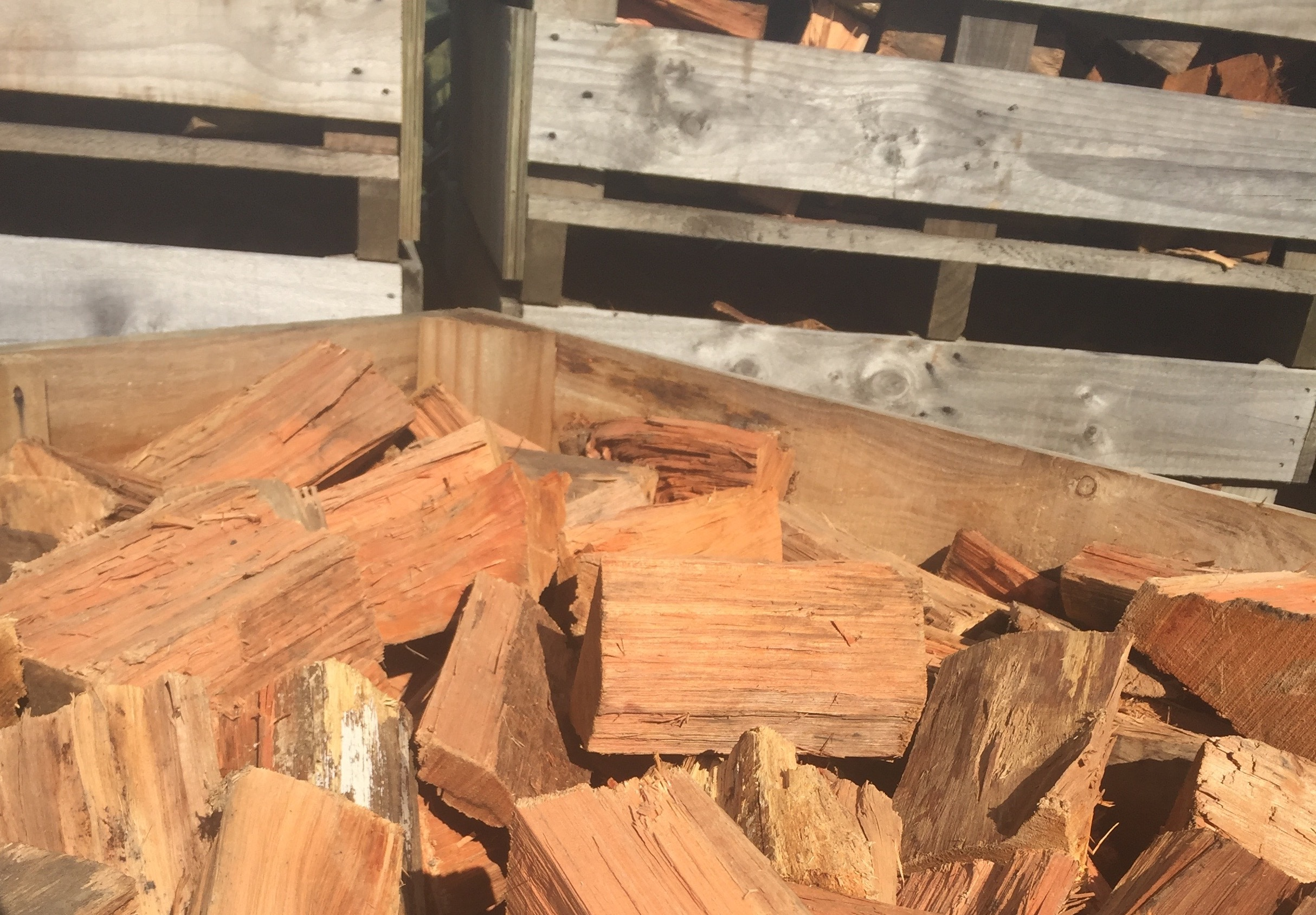 Air dried firewood at Auckland yard