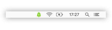 CashNotify menu bar icon