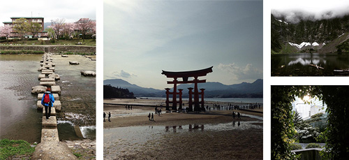 Photo collage of Japan trip and Seattle-area explorations