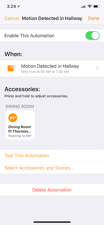 Motion Detection Automation
