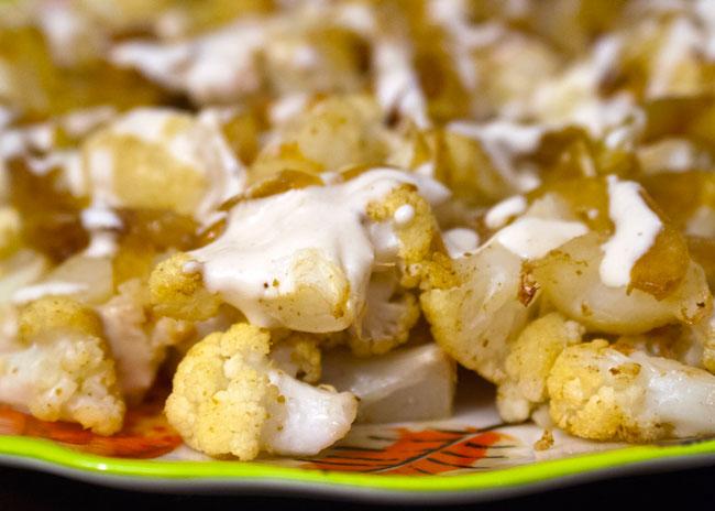 roasted cauliflower and zucchini with tahini sauce recipe