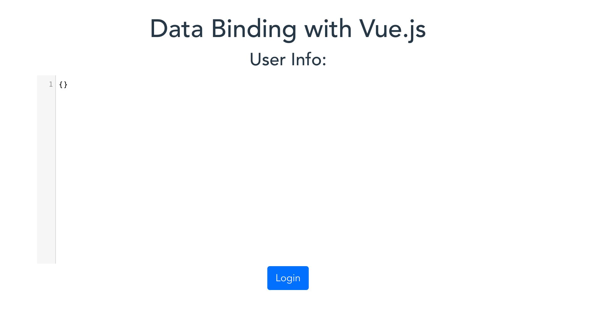 intial data binding