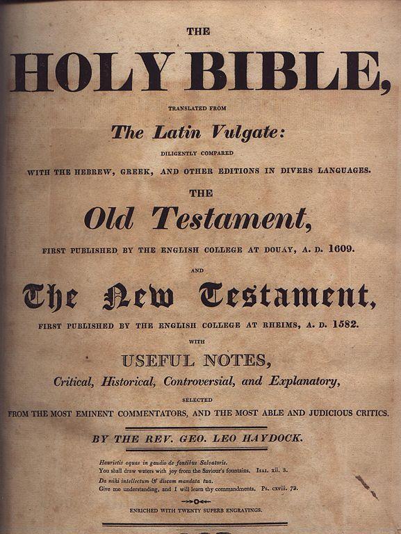 Haydock Title Page, 1st Edition
