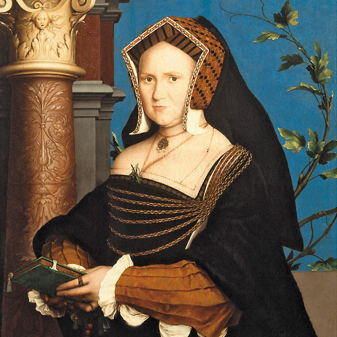 Мэри Уоттон, леди Гилденфорд (1527). Художник: Ганс Гольбейн-младший. Городской художественный музей Сент-Луиса. Иллюстрация изкниги «Как жить в эпоху Тюдоров»