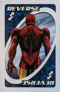 Iron Man 2 Dark Blue Uno Reverse Card