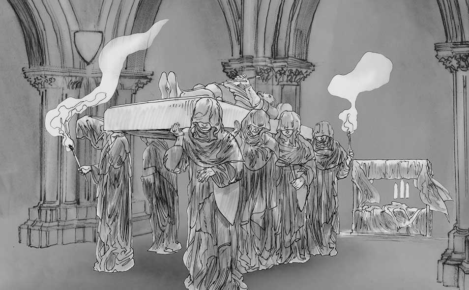 Atoleiros Battle animatic - Storyboard — Ferdinand I of Portugal funeral