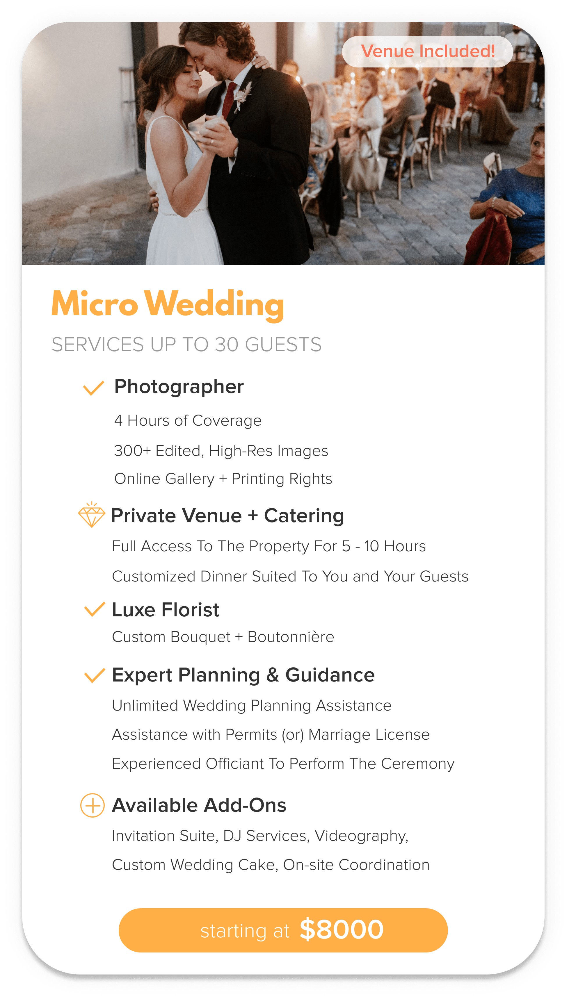 Micro Wedding Package
