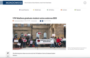 Message from Graduate Students on the MLA Academic Boycott Resolution