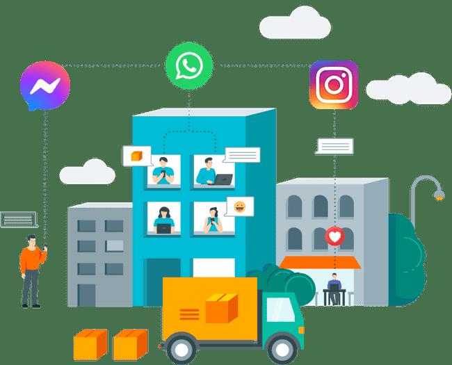 Vende más y brinda soporte vía WhatsApp, Instagram y Facebook Messenger