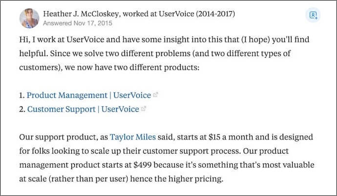 UserVoice quote