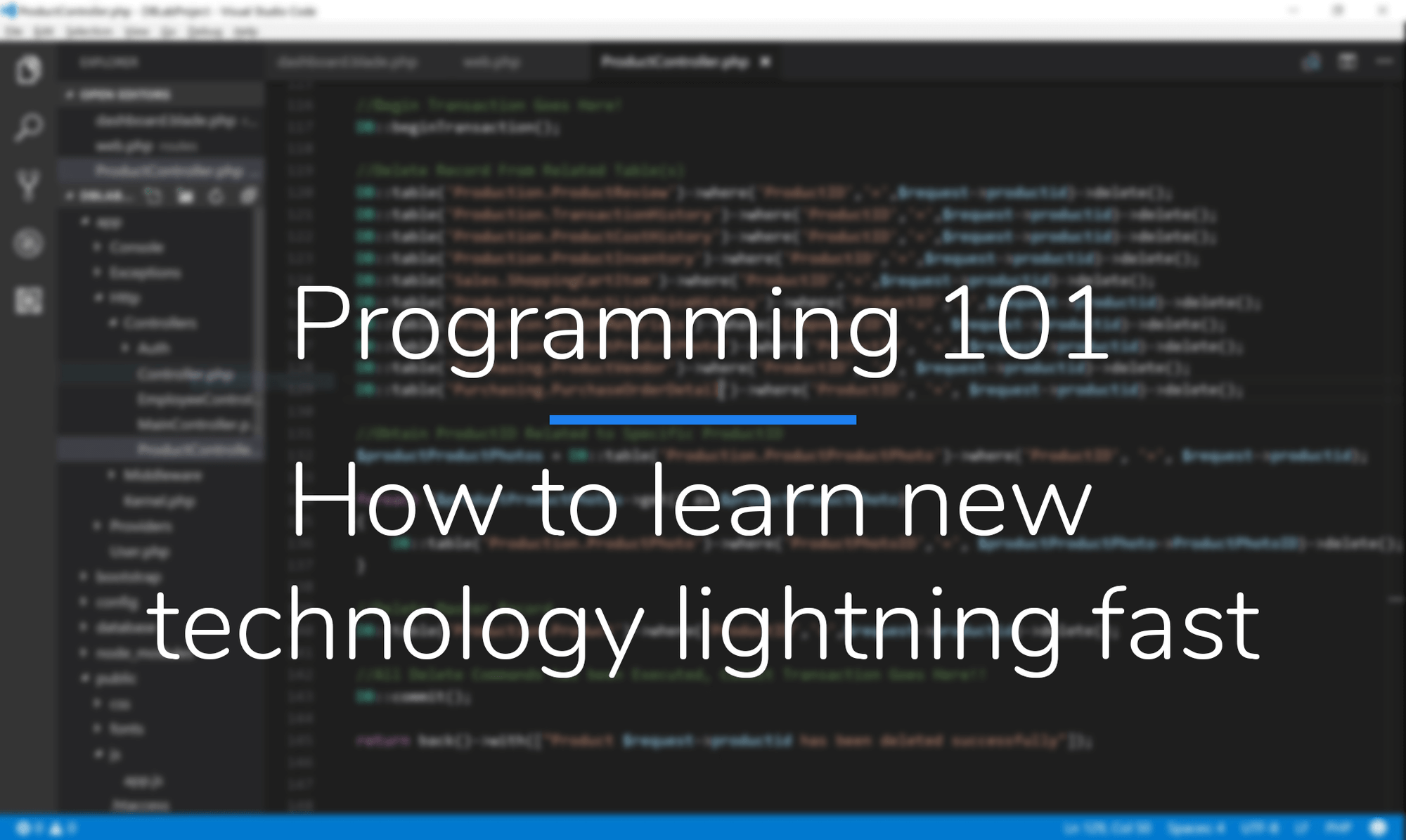 Programming 101 - How to learn new technology lightning fast