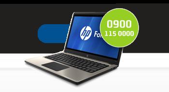 HP gebruikt een 0900-nummer.