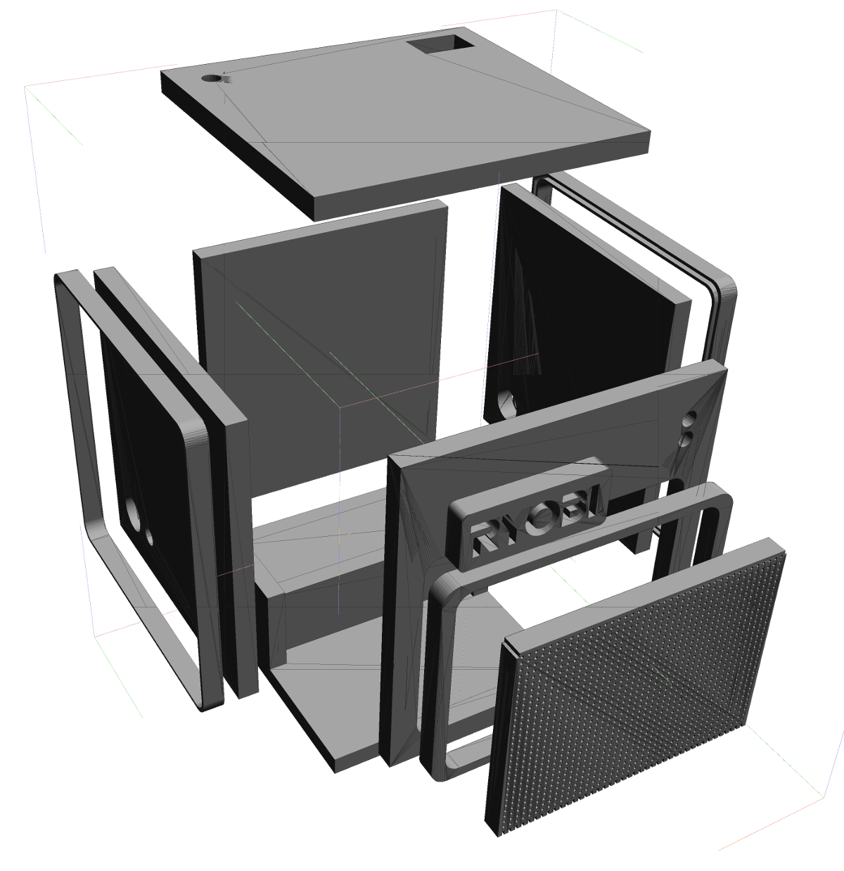 Exploded view of Cube